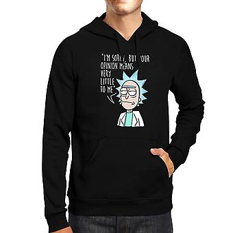 Rick And Morty Rick Opinion Men's Hooded Sweatshirt