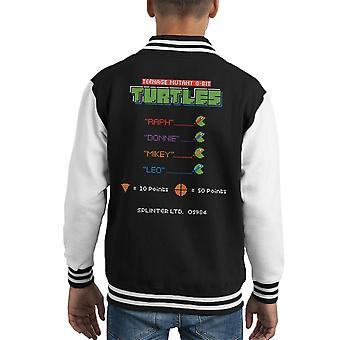 Varsity Jacket de los niños tortugas adolescentes mutantes 8 bits