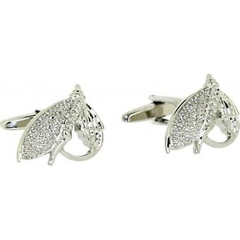 David Van Hagen Fishing Flie Cufflinks - Silver