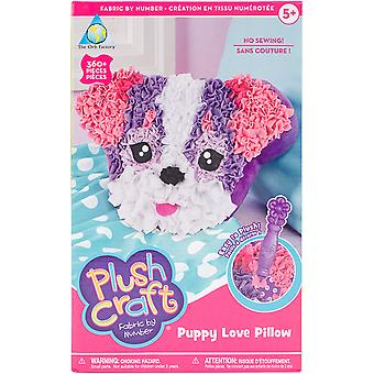 PlushCraft Stoff von Nummer Kit-Puppy Love Pillow 69384