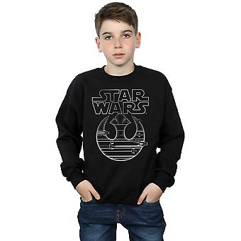 Star Wars Boys The Last Jedi Resistance Logo Metallic Sweatshirt