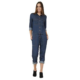 Women's Denim Boilersuit Lightweight Blue denim All-in-one