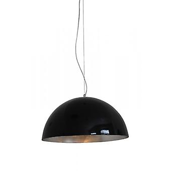 Suspension lamp, pendant lamp, Elio P50 black / silver, 10398