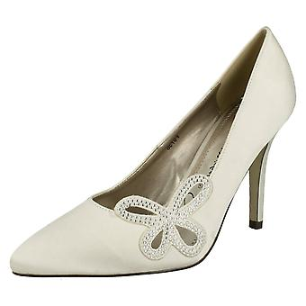 Ladies Anne Michelle Court Shoes with Diamante Detail