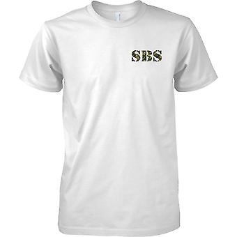 SBS - Special Boat Service - Royal Navy Special Forces - Mens Chest Design T-Shirt