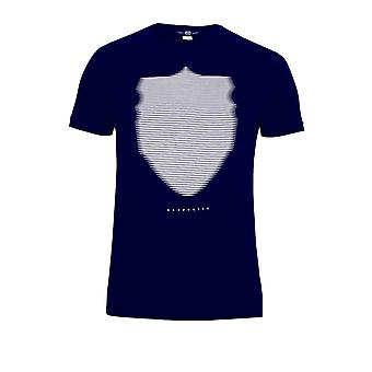883 POLICE Wolf Graphic Print T-Shirt | Navy