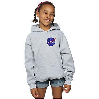 NASA ragazze Insignia classico petto Logo Hoodie