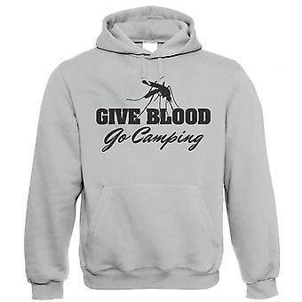 Vectorbomb, Spende Blut Zelten gehen, Mens lustig Hoodie (S bis 5XL)