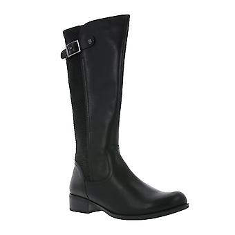 CAPRICE Womens boots black with stretch insert