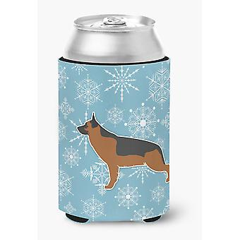 Снежинка зима немецкая овчарка может или бутылка Hugger