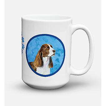 Springer Spaniel  Dishwasher Safe Microwavable Ceramic Coffee Mug 15 ounce SS478