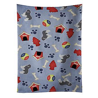 Pianura polacca Sheepdog cane cane casa collezione asciugapiatti