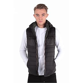 883 POLICE Marco Black Hooded Gilet