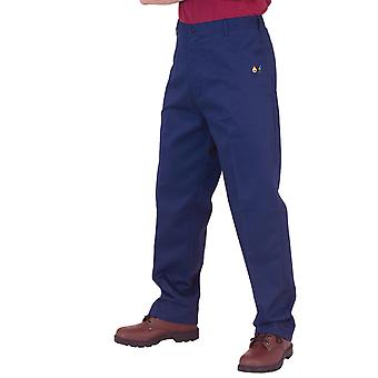 Click Fire Retardant Anti Static Trousers. Navy Blue - Cfrastrs