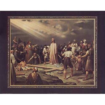 Jesus at the Cross Poster Print by Thomas L Cathey Collection (28 x 22)