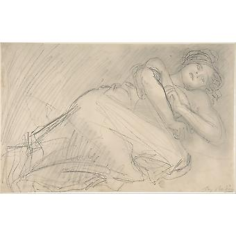 LAbandonnà © e-Plakat-Druck von Auguste Rodin (1840 Paris Französisch
