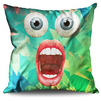 Surprise Face Cool Funny Linen Cushion Surprise Face Cool Funny | Wellcoda