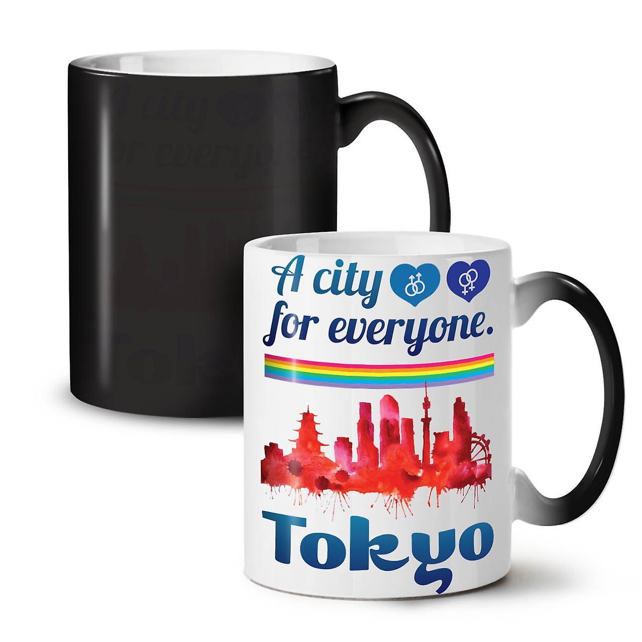 Urbain Nouvelle Café Couleur De Amour Céramique Tasse OzWellcoda Tokyo Changeant Noir Thé Pride 11 VUzpqSMLG