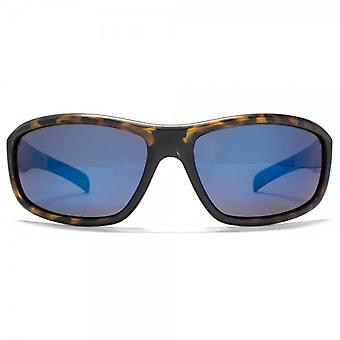 Freedom Polarised Small Wrap Sunglasses In Matte Tortoiseshell