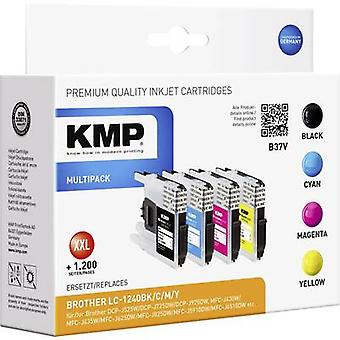 KMP Ink replaced Brother LC-1240 Compatible Set Bl