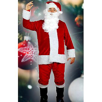 Trajes de los hombres Santa traje de lujo rojo intenso