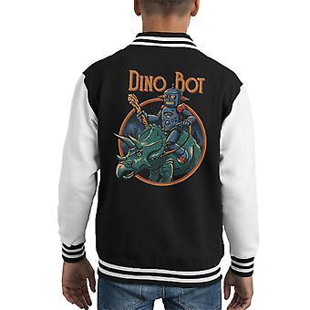 Dino Bot Triceratops Kid Varsity Jacket