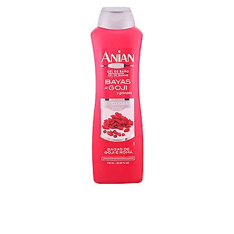 Anian Bayas De Goji Y Granada Gel Ducha 750ml Womens New Sealed Boxed