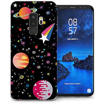 Samsung Galaxy S9 Plus Cartoon Space TPU Gel Case - Black