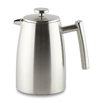 Café Ole 1000ml Belmont 8 Cup Double Walled Cafetiere Coffee Maker Satin