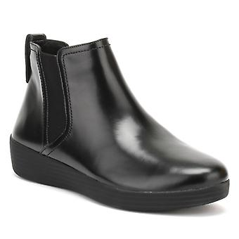 FitFlop Womens All Black Superchelsea Boots