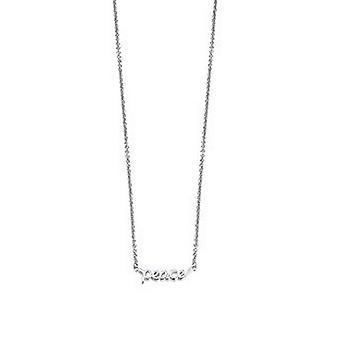 ESPRIT women's chain necklace silver peace message ESNL92219B420