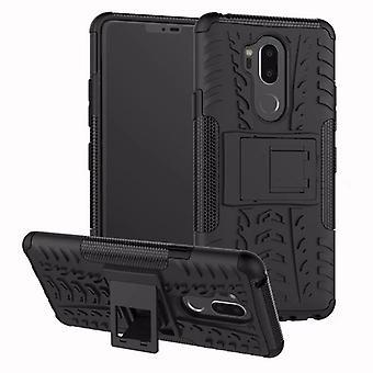 Voor LG G7 hybrid case 2 stuk SWL buiten zwart case tas mouw cover bescherming
