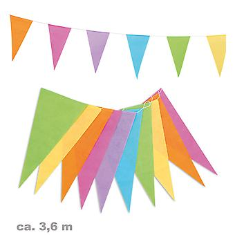 Garland 3, 6m colorful pennants party birthday