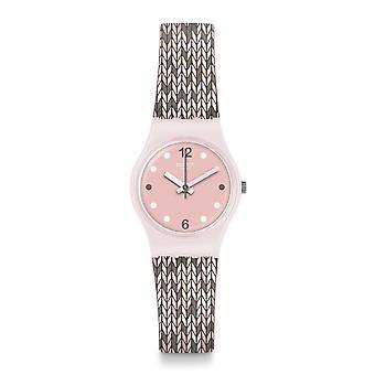 Swatch Lp151 Trico'pink Silicone Lady Watch