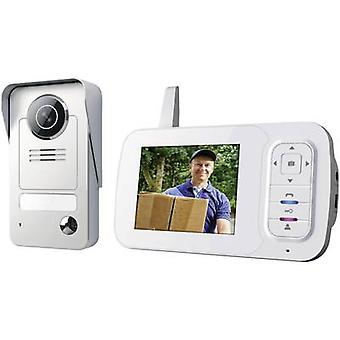 Smartwares VD38W Video door intercom Radio Complete kit Detached Grey, Silver