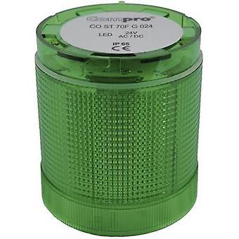 Signal tower Komponente LED referend CO ST 70 grüne Nonstop-Lichtsignal, Flash, Emergency light 24 Vdc, 24 V AC 75 dB