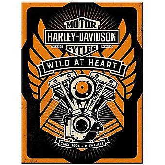 Harley Davidson Wild At Heart Steel Fridge Magnet