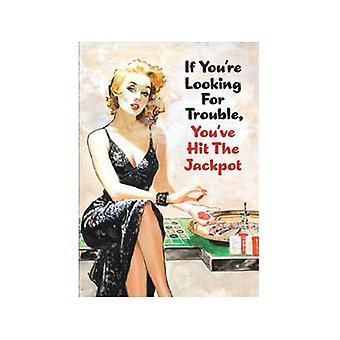 Если вы ищете неприятности... Смешные холодильник магнит