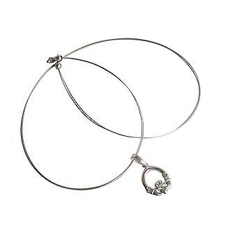Ketting zilver hart geluk Claddagh charme 925 Zilveren halsketting
