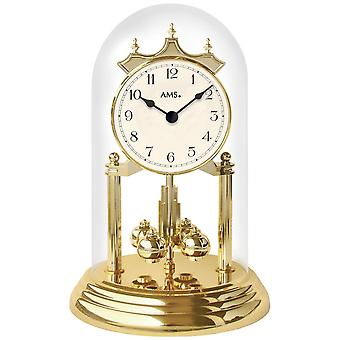 Year watch from plastic quartz watch year clock quartz brass look hood mineral glass