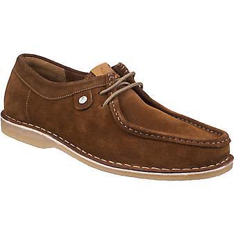 Gabicci Mens Marshall Wallabee mocka läder snörning skor