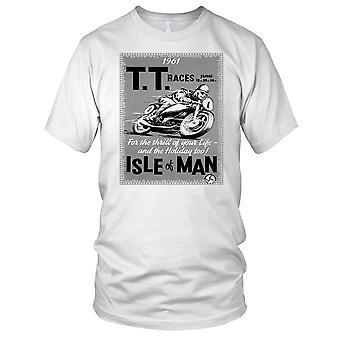 TT Rennen 1961 klassische Isle Of Man Motorrad Motorrad Biker Poster Herren T Shirt