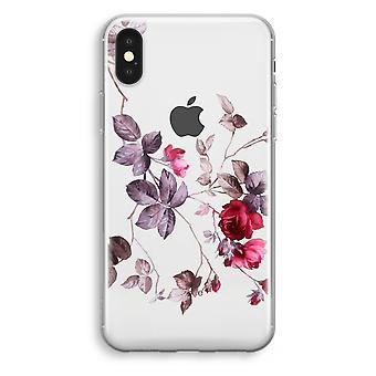 iPhonegeval XS Transparant (Soft) - mooie bloemen