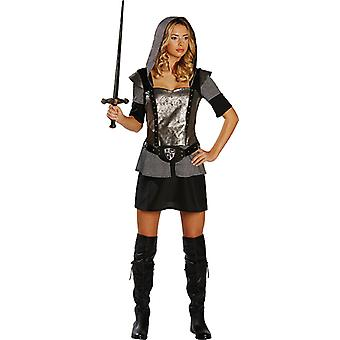 Knights ladies costume Knight black-silver