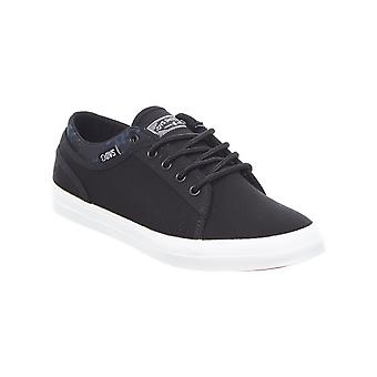 DVS Black-White Canvas Aversa Womens Low Top Shoe