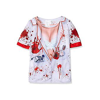 Women costumes  T-shirt nurse with blood