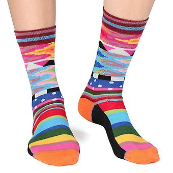 Band women's crazy combed cotton crew socks | French design by Dub & Drino