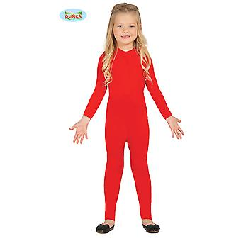 Guirca of elastic red body suit for children