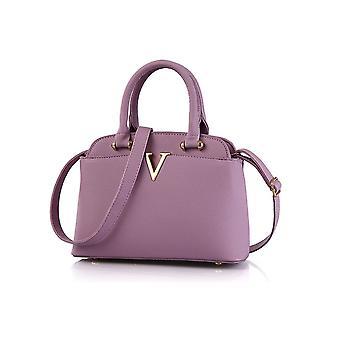 Ladies Designer Long Handle Tote Shoulder Purple Handbag Leather Bag SN28
