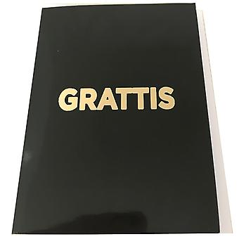 Greeting cards with envelopes Black with guldtext